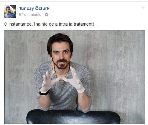 Ce gafă a făcut Tuncay Ozturk: a scris greșit în limba română