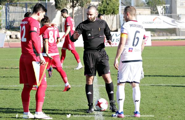 Arbitrul Cristian Catană a oficiat meciul amical Astra - Pogon