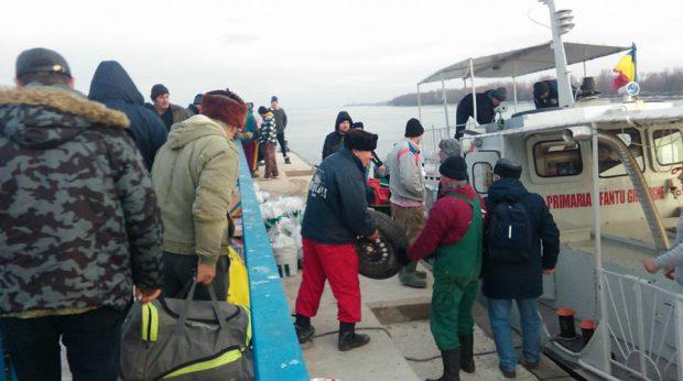 Apel disperat din Delta Dunării: Locuitorii din Sfântu Gheorghe, complet izolați, din cauza sloiurilor de gheață