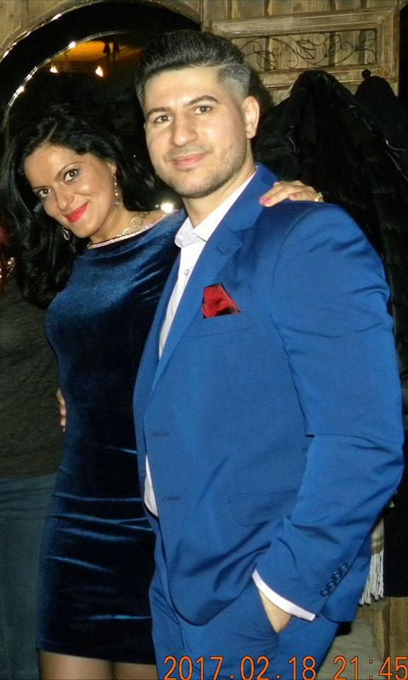 Lavinia Tatomir, alături de actualul său soț, Laurențiu