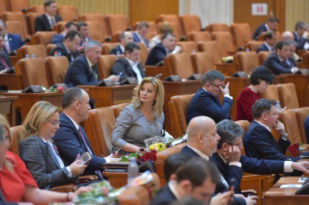 Cum au sărbătorit doamnele din Parlament ziua de 8 Martie: Concert de muzică populară, dedicație de la un coleg deputat
