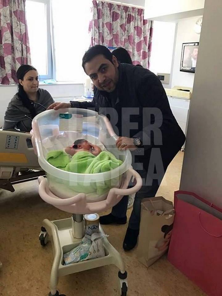 FOTO EXCLUSIV /Sorinel Copilul de Aur a devenit tată! Alina, viitoarea soție a manelistului, a născut o fetiță