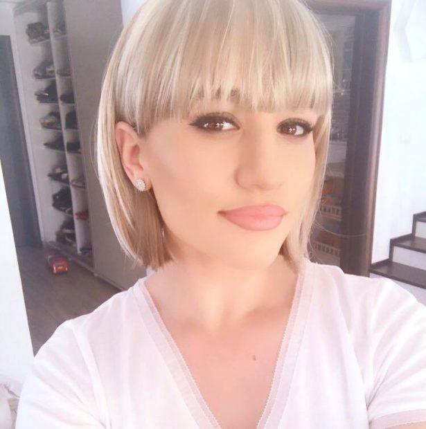 Claudia Pătrășcanu, blondă și cu părul scurt. Nu au mai recunoscut-o.