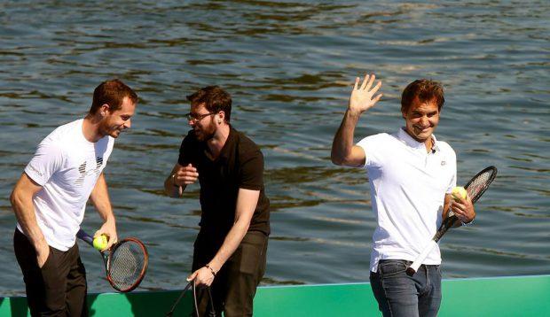 Federer și Murray au jucat pentru Africa. Elvețianul l-a depășit în două seturi pe liderul mondial