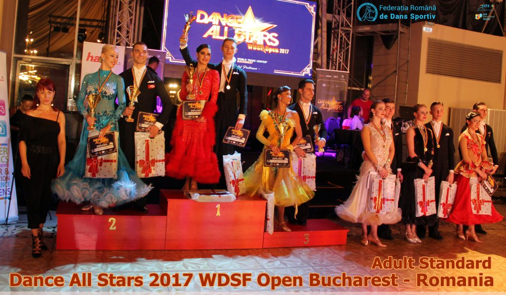 Romanii au cucerit lumea dansului sportiv. DANCE ALL STARS – WDSF OPEN la final