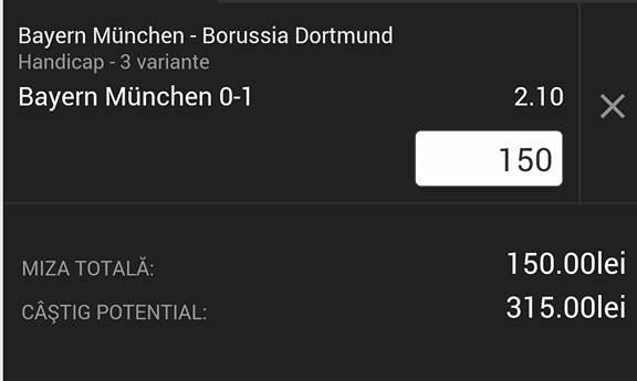 Cota zilei și avancronică pentru meciul Bayern Munchen - Borussia Dortmund