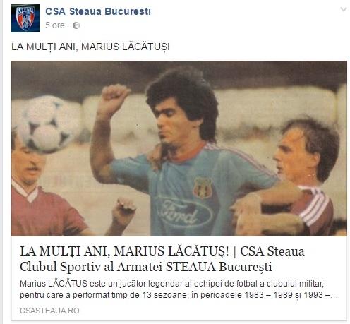 Mesajul celor de la CSA Steaua