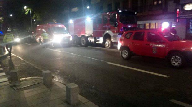Incendiu la subsolul unui bloc de pe Calea Victoriei