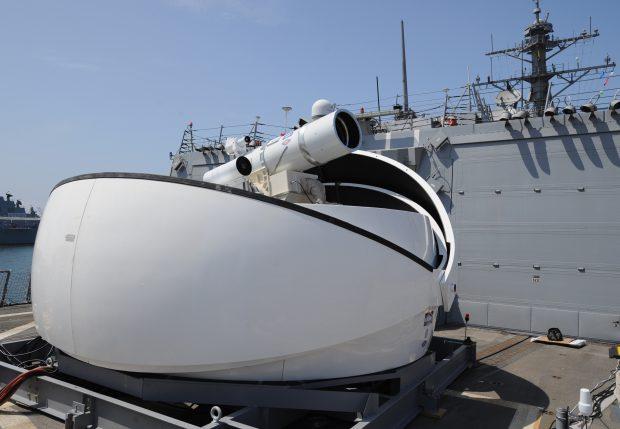 Arma laser montată pe USS Ponce