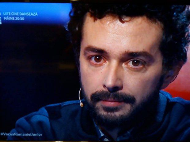Marius Moga a plâns la Vocea României Junior