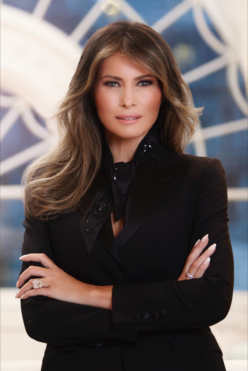 Prima Doamna a SUA Melania Trump are portret oficial