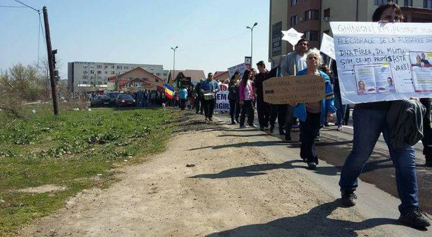 Protest al locuitorilor din Prelungirea Ghencea