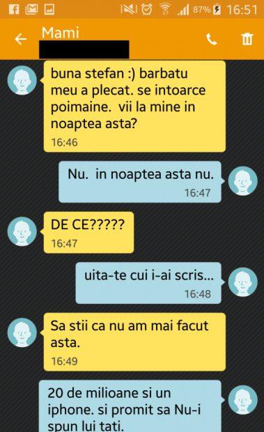 O femeie i-a trimis un mesaj amantului. Nu se aștepta la răspunsul pe care l-a primit prin SMS