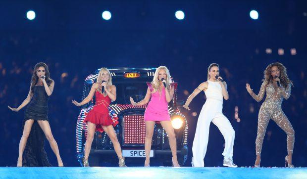 Spice Girls în 2012 la deschiderea Jocurilor Olimpice din Londra
