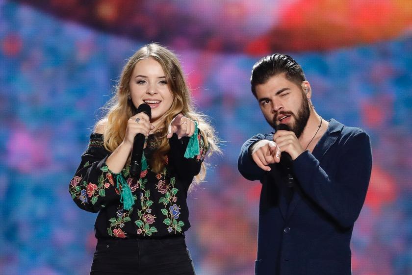 Ilinca şi Alex Florea au avut prima repetiţie pe scena Eurovision