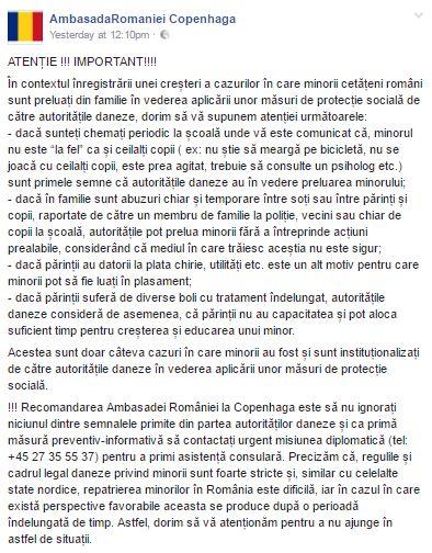 EXCLUSIV. Mesaj alarmant al Secției Consulare a României în Danemarca pentru părinții români. Învățați să recunoască semnele că vor rămâne fără copii; Ce spune MAE