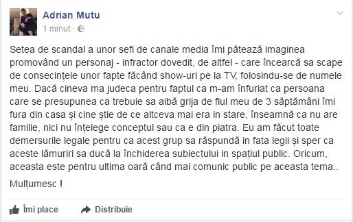 Mesajul lui Mutu