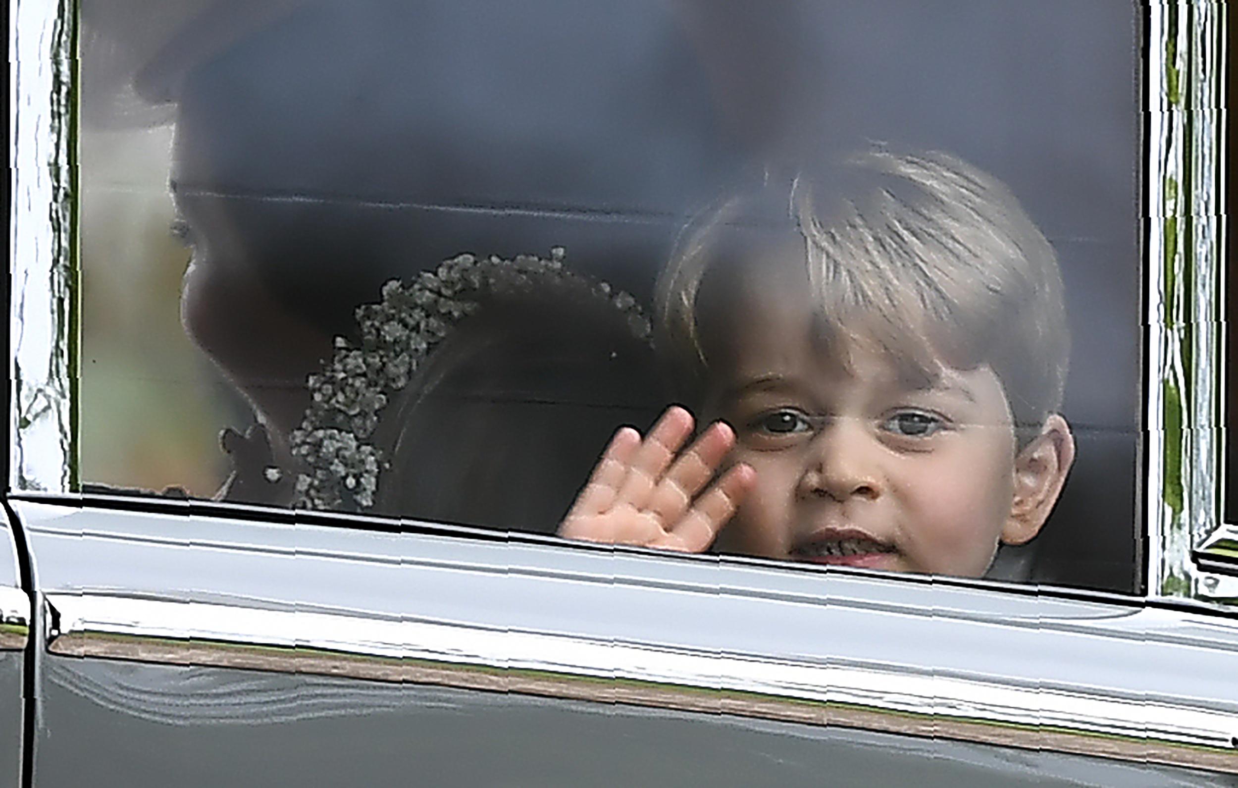 FOTO | Prințul George și prințesa Charlotte, în centrul atenției la nunta mătușii Pippa Middleton