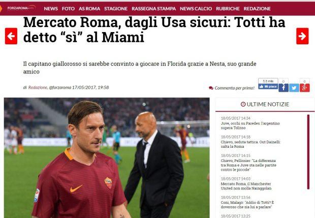 Anunțul presei italiene