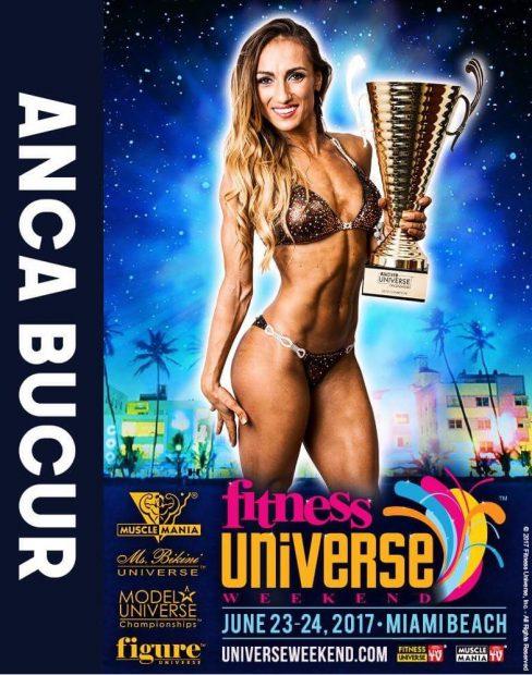 Anca Bucur atacă titlul la Miss Fitness Universe 2017. Ce a spus sportiva, înaintea plecării în Florida / GALERIE FOTO