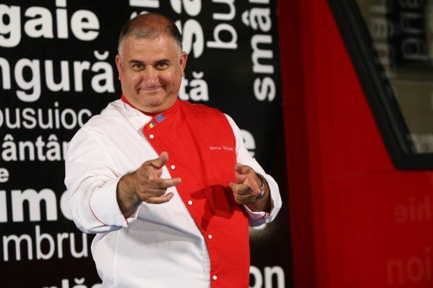Chef Horia Vîrlan, show culinar cu hei la noua statie Rompetrol din București
