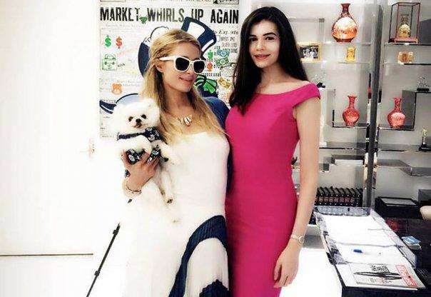 Monica Gabor, la întâlnire cu Paris Hilton