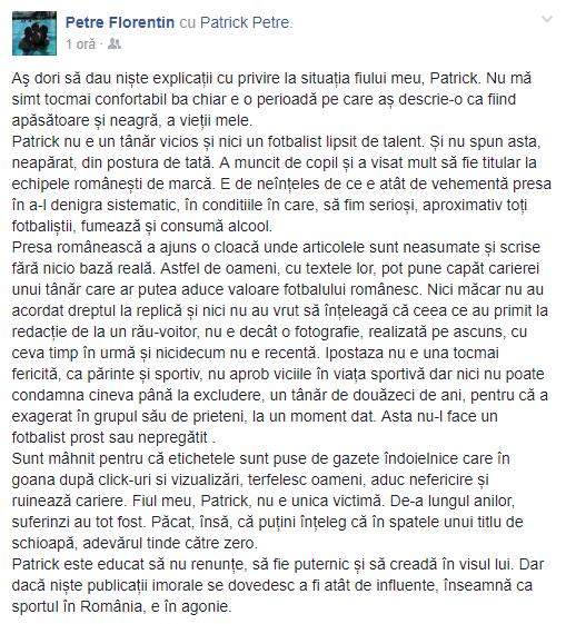 """Florentin Petre este disperat de situația fiului său, Patrick: """"E o perioadă pe care aș descrie-o ca fiind apăsătoare și neagră, a vieții mele"""""""