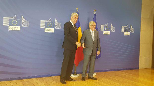 FOTO&VIDEO/ Premierul Mihai Tudose s-a întâlnit la Bruxelles cu oficialii europeni; Ce promisiuni a primit și ce trebuie să facă România