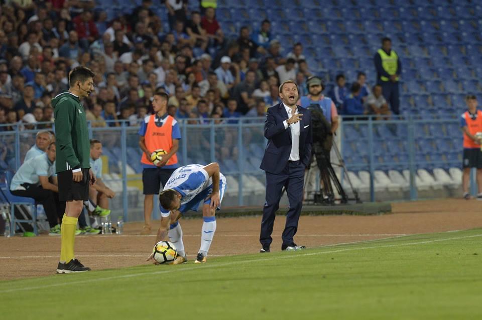 Antrenorul Craiovei, Devis Mangia, este foarte mulțumit de jocul cu AC Milan
