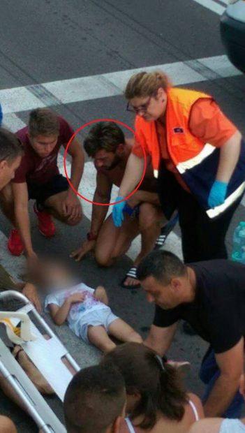 Dorian Popa, martorul unui accident teribil la Mamaia.