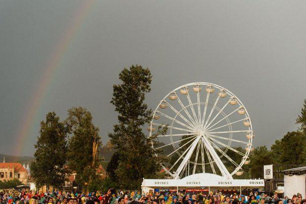 La un moment dat, a apărut și un curcubeu spectaculos