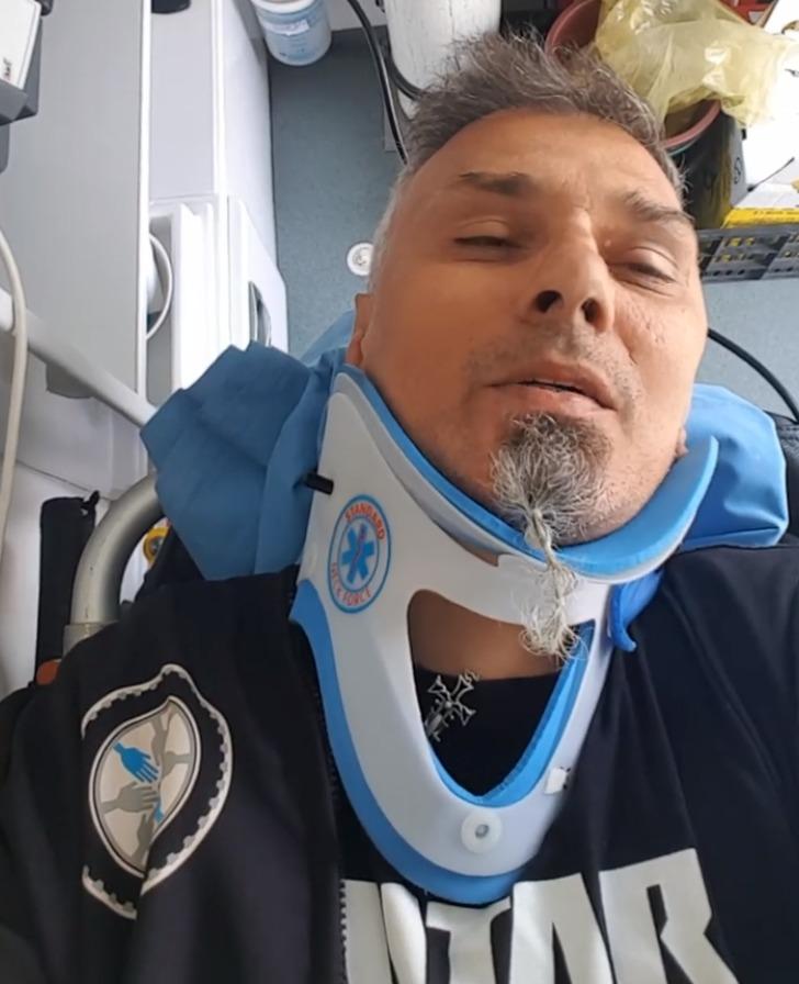 Cristian Hrubaru a ajuns la spital în urma unui accident de motocicletă! A fost acroșat într-o intersecție