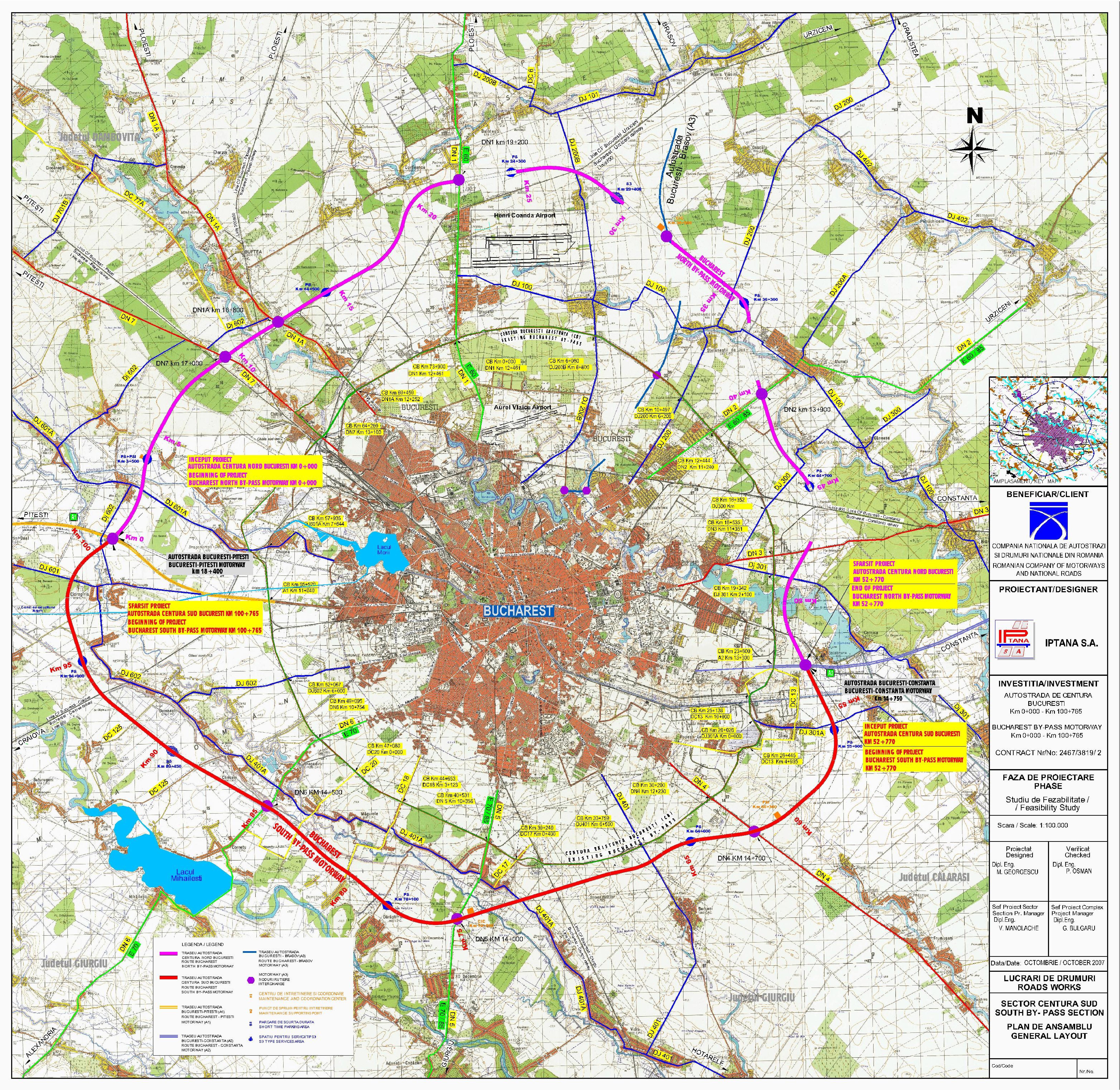 O Nouă Centură A Capitalei Autostrada A0 Sud București Va Lega A1