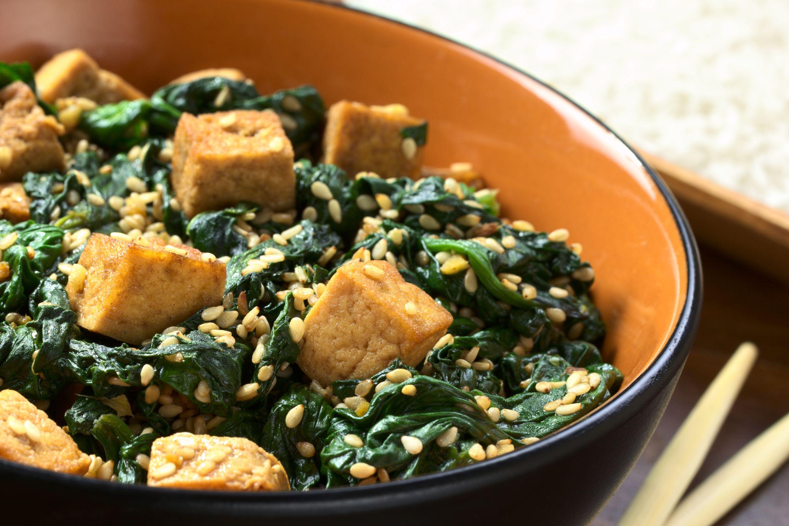 spanac cu tofu