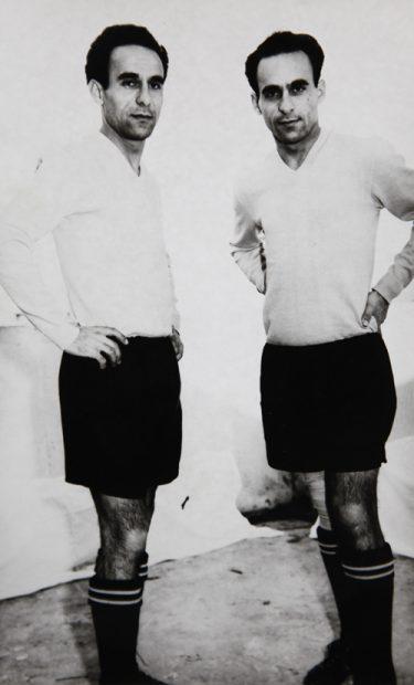 Dumitru și Anton Munteanu (dreapta)