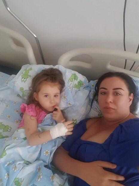 Oana Roman și-a dus fetița de urgență la spital