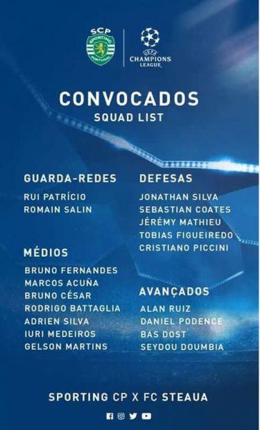 Lotul anunțat de Sporting pe Facebook
