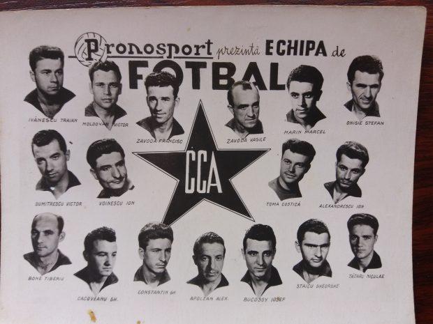 Aceasta a fost marea echipă CCA din care a făcut parte și Victor Moldovan
