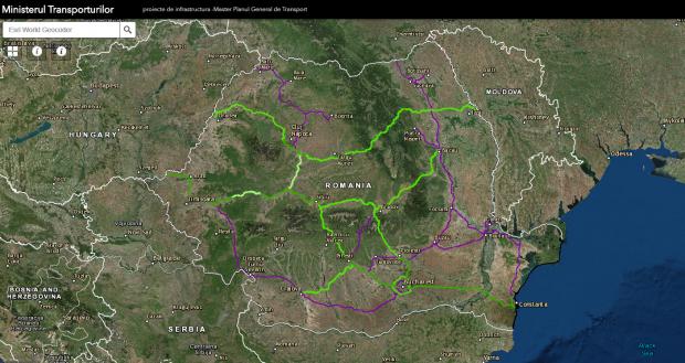 Autostrăzile și drumurile-expres ale Romaniei. Harta