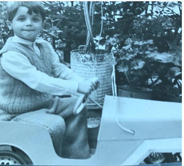 Imagine de colecție cu Gabriel Coveșeanu. Avea doar 4 ani. Fanii s-au amuzat când au văzut cum arăta