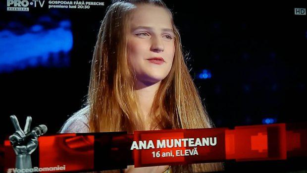 ana munteanu, la Vocea Romaniei