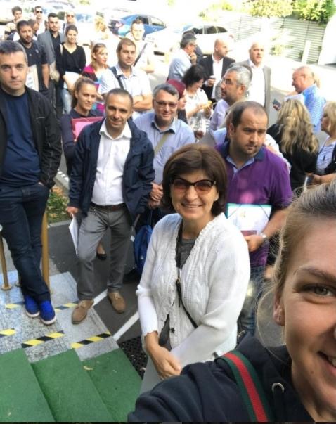 Simona Halep a fost azi să-și ia viza de China
