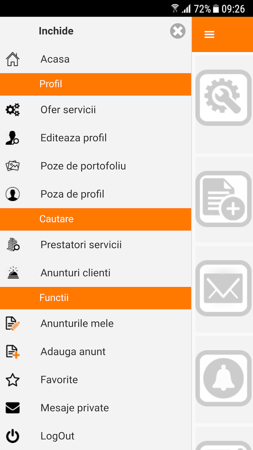 Vreau Servicii, aplicatia care iti gaseste zugravi, instalatori, avocati sau medici. Captură din aplicație