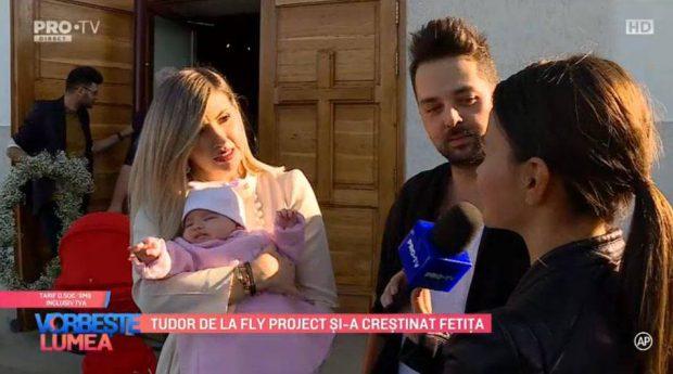 Tudor de la Fly Project, primele declarații după botezul fetiței