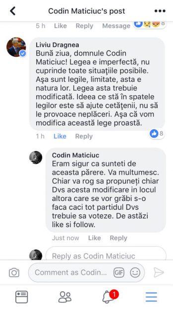 Codin Maticiuc i-a cerut lui Dragnea să schimbe legea care a obligat-o pe tânăra cu scleroză să înapoieze pensia de handicap. Ce răspuns i-a dat. Mesajele au devenit publice