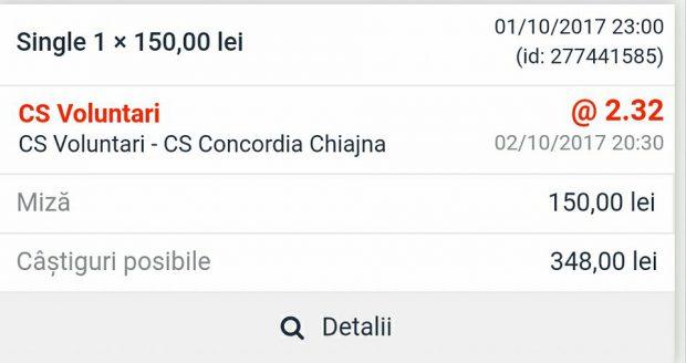 Cota zilei fotbal 2 octombrie 2017. Cine câștigă derby-ul Ilfovului?