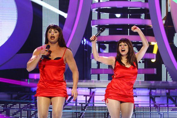 """Pepe și Anisia Gafton le imită pe Cheeky Girls la """"Te cunosc de undeva!"""""""