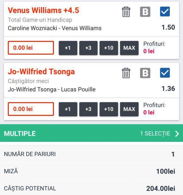Biletul zilei din tenis, 29 octombrie. Mizăm pe Venus Williams