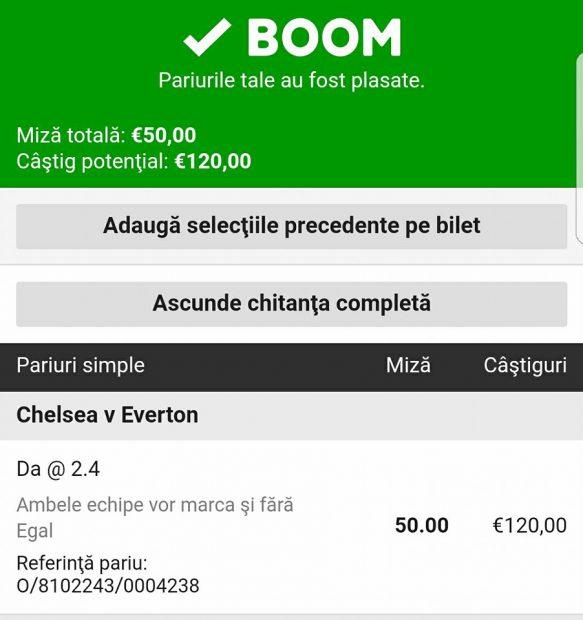 Cota zilei și avancronică pentru meciul Chelsea vs Everton