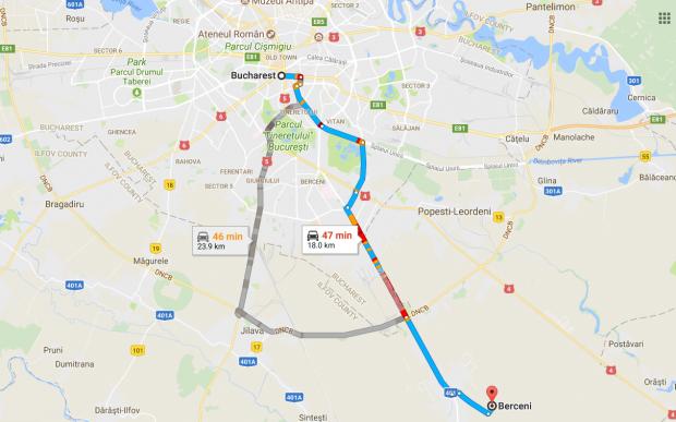 Hartă București-Berceni